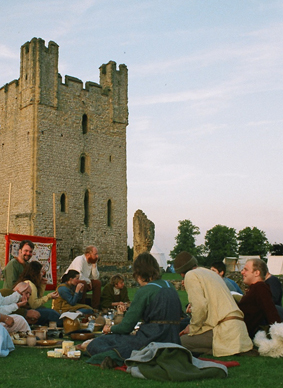 An open air banquet was enjoyed by all in the evening.