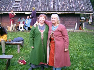 Reconstructed female coats from the DAS trip to Sweden
