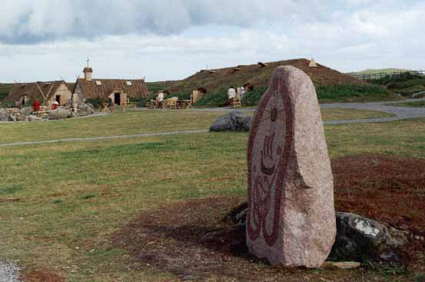 The village standing stone